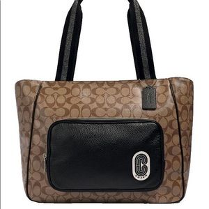 Coach Court Tote In Signature Canvas NWT